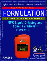 NPK Liquid Dripping and Foliar Fertilizer -II (4-8+ 24 +TE)