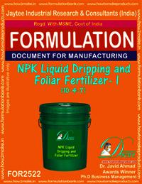 NPK Liquid Dripping and Foliar Fertilizer -I (10-4-7)