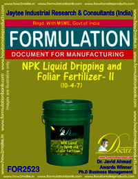 NPK Liquid Dripping and Foliar Fertilizer -II (10-4-7)