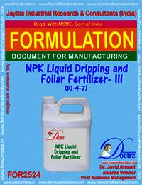 NPK Liquid Dripping and Foliar Fertilizer -III (10-4-7)