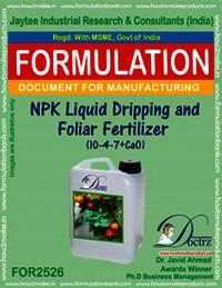 NPK Liquid Dripping & Foliar Fertilizer (10-4-7+Cao)