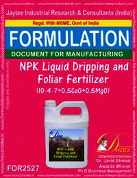 NPK Liquid Dripping & Foliar Fertilizer (10-4-7+0.5CaO+0.5Mgo)