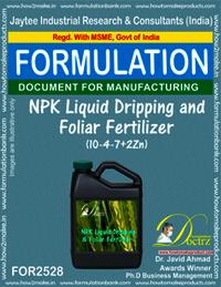 NPK Liquid Dripping and Foliar Fertilizer (10-4-7+2Zn)