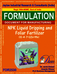 NPK Liquid Dripping and Foliar Fertilizer (10-4-7+2Zn+Mn)