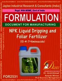 NPK Liquid Dripping and Foliar Fertilizer (10-4-7 + Aminoacids)