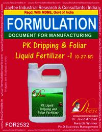 PK Dripping & Foliar Fertilizer-I (0-27-18)
