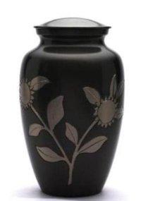Black Leaf Classic Cremation Urn