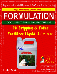 PK Dripping & Foliar Fertilizer-III (0-27-18)