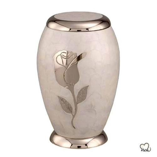 Pearl White Cremation Urn