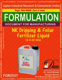 NK Dripping and Foliar Fertilizer Liquid (3-0-15+3Zn)