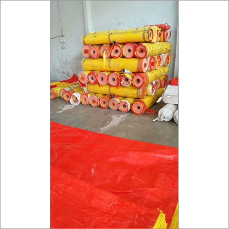 Yellow &  Red Tarpaulin
