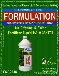 NK Dripping &Foliar Fertilizer Liquid -I (3-0-15 +TE )