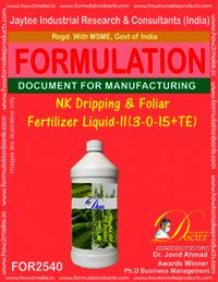 NK Dripping &Foliar Fertilizer Liquid -II (3 -0-15 +TE)