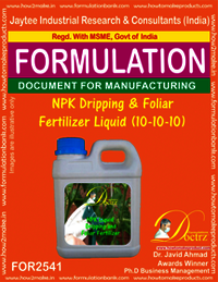 NPK Dripping & Foliar Fertilizer Liquid (10-10-10)
