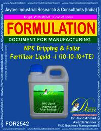 NPK Dripping & Foliar Fertilizer Liquid I(10-10-10 + TE)