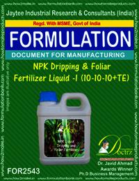 NPK Dripping & Foliar Fertilizer Liquid -II (10-10-10 + TE)