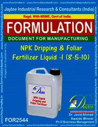 NPK Dripping and Foliar Fertilizer Liquid-I (8-5-10)