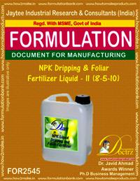 NPK Dripping and Foliar Fertilizer Liquid-II (8-5-10)