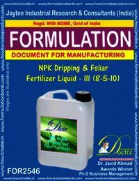 NPK Dripping and Foliar Fertilizer Liquid-III (8-5-10)