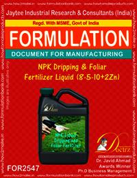 NPK Dripping and Foliar Fertilizer Liquid (8-5-10 + 2Zn)