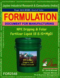 NPK Dripping and Foliar Fertilizer Liquid (8-5-10 + MgO)