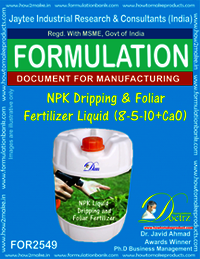 NPK Dripping & Foliar Fertilizer Liquid (8-5-10+CaO)