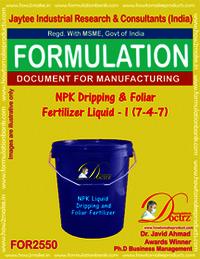 NPK Dripping and Foliar Fertilizer Liquid -I (7-4-7)