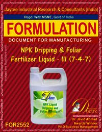 NPK Dripping and Foliar Fertilizer Liquid -III (7-4-7)