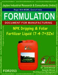 NPK Dripping and Foliar Fertilizer Liquid (7-4-7+3Zn)