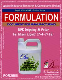 NPK Dripping & Foliar Fertilizer Liquid (7-4-7+TE)