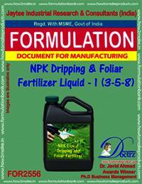 NPK Dripping and Foliar Fertilizer Liquid-I (3-5-8)
