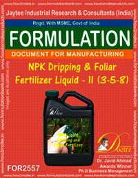 NPK Dripping and Foliar Fertilizer Liquid-II (3-5-8)