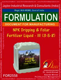 NPK Dripping and Foliar Fertilizer Liquid-III (3-5-8)