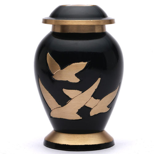 Aria Bird Metal Brass Cremation Urns