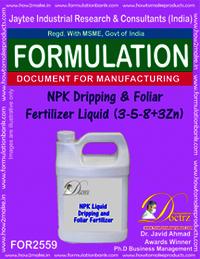 NPK Dripping & Foliar Fertilizer Liquid (3-5-8+3Zn)