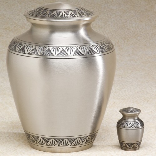 Athena Pewter Elite Brass Metal Cremation Urn