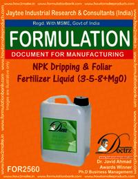 NPK Dripping & Foliar Fertilizer Liquid (3-5-8+MgO)
