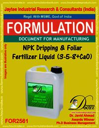 NPK Dripping & Foliar Fertilizer Liquid (3-5-8+CaO)