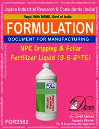 NPK Dripping and Foliar Fertilizer Liquid (3-5-8+TE)