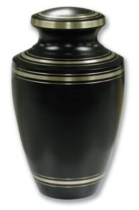 Adult Black And Purple Cremation Urn