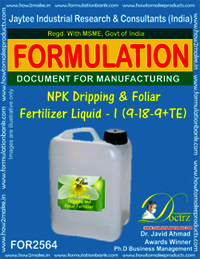 NPK Dripping & Foliar Fertilizer Liquid-I (9-18-9+TE)