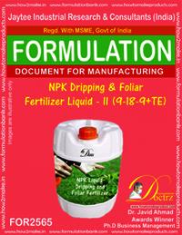 NPK Dripping & Foliar Fertilizer Liquid-II (9-18-9+TE)