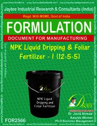 NPK Liquid Dripping & Foliar Fertilizer-I (12-5-5)