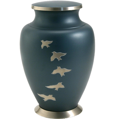 Aria Ascending Doves Brass Metal Cremation Urn