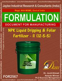 NPK Liquid Dripping & Foliar Fertilizer-II (12-5-5)