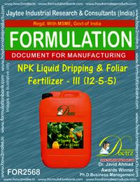 NPK Liquid Dripping & Foliar Fertilizer-III (12-5-5)