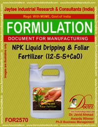 NPK Dripping & Foliar Fertilizer Liquid (12-5-5 +CaO)