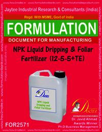 NPK Dripping & Foliar Fertilizer Liquid (12-5-5 +TE)