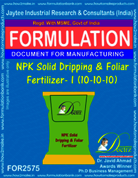 NPK Solid Dripping and Foliar Fertilizer-I (10-10-10)