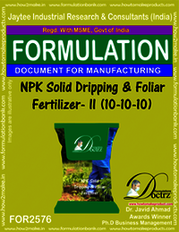 NPK Solid Dripping and Foliar Fertilizer-II (10-10-10)